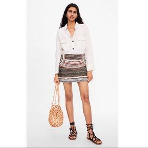 NWT Zara Mini Skirt XL